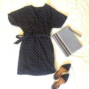 ANN TAYLOR  XXSP Blue Wrap Dress w/ Pockets EUC!